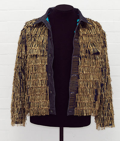 Denim jacket, 'BLITZ', by Levi Strauss & Co., customised by Leigh Bowery, 1