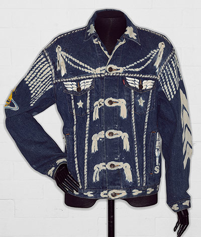 Denim jacket, 'BLITZ', by Levi Strauss & Co., customised by Vivienne Westwo